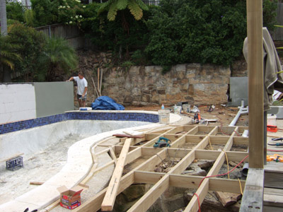 Pool Decking construction Allambie