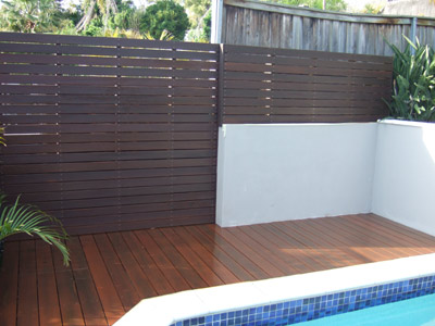 decking and privacy screen in Cromer