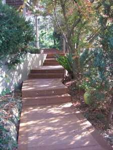 Stairs and Decking project in Frenchs Forest
