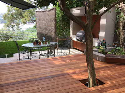 Mosman courtyard carpentry decking job